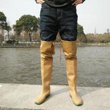 [Nhà máy trực tiếp] quần ống nước siêu dày dày đi mưa đi giày nước pad giày thuần màu cắm giày câu cá Giày đi mưa nữ