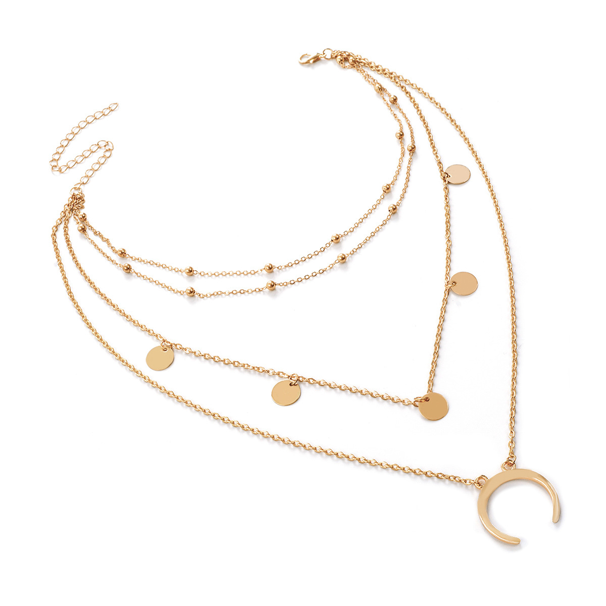 Occident and the United States alloy plating Necklace Set (C2180 silver)NHXR1448-C2180 silver
