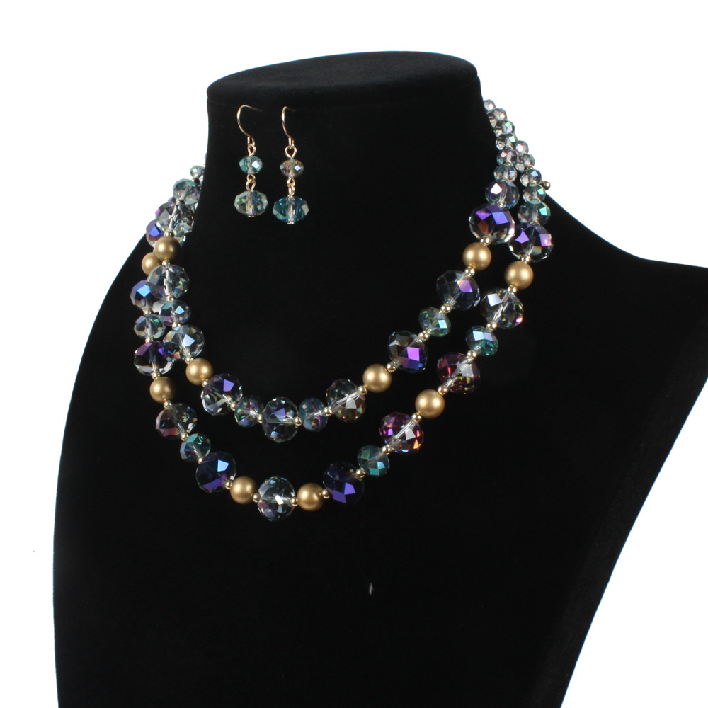Occident and the United States pearlnecklace (purple)NHCT0041-purple