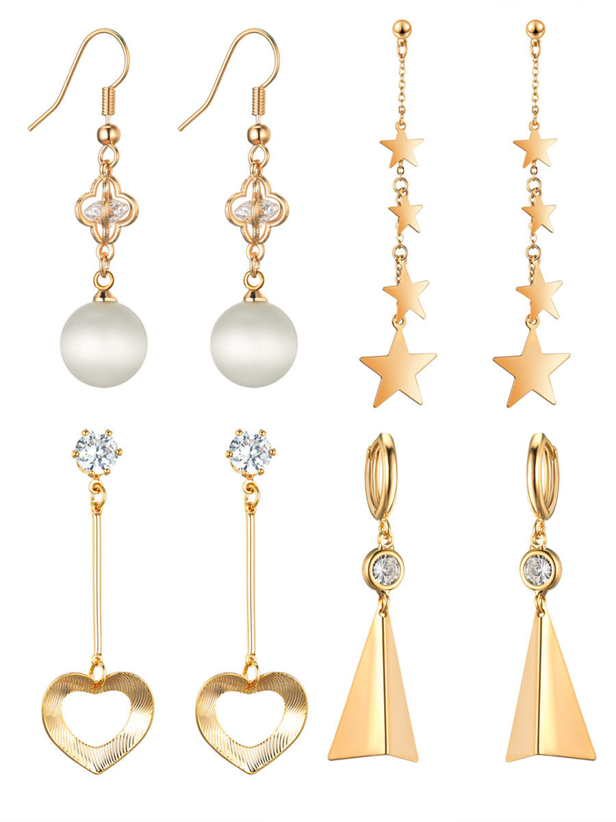 Star street shoot metal plating Jewelry Sets (Gold)NHIM0927-Gold