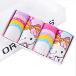 GirlsFlat-angle Underwear, Cotton Girls Baby Cartoon Underwear, Childrens Underwear, Childrens Underwear, Four Gift Boxes