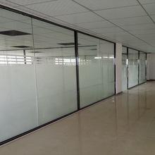 深圳玻璃隔断安装 钢化玻璃隔断墙 办公室隔断 12MM玻璃隔墙工程