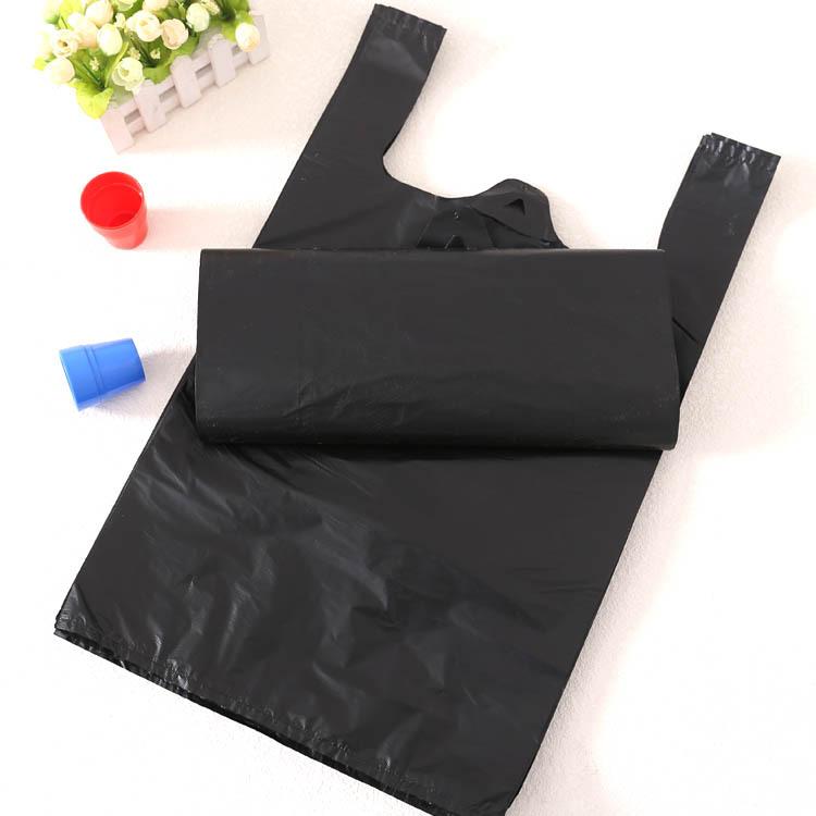 一次性垃圾袋背心式手提垃圾袋家用酒店客房厨房垃圾袋黑色塑料袋