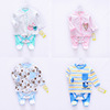 Europe and America style baby Jumpsuit suit pure cotton Cartoon Three-piece Suite Baby 0-1 baby Garment factory
