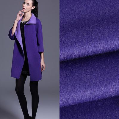 2018厂家直销多色苏丽阿尔巴卡羊毛羊驼毛单面大衣呢面料现货供应