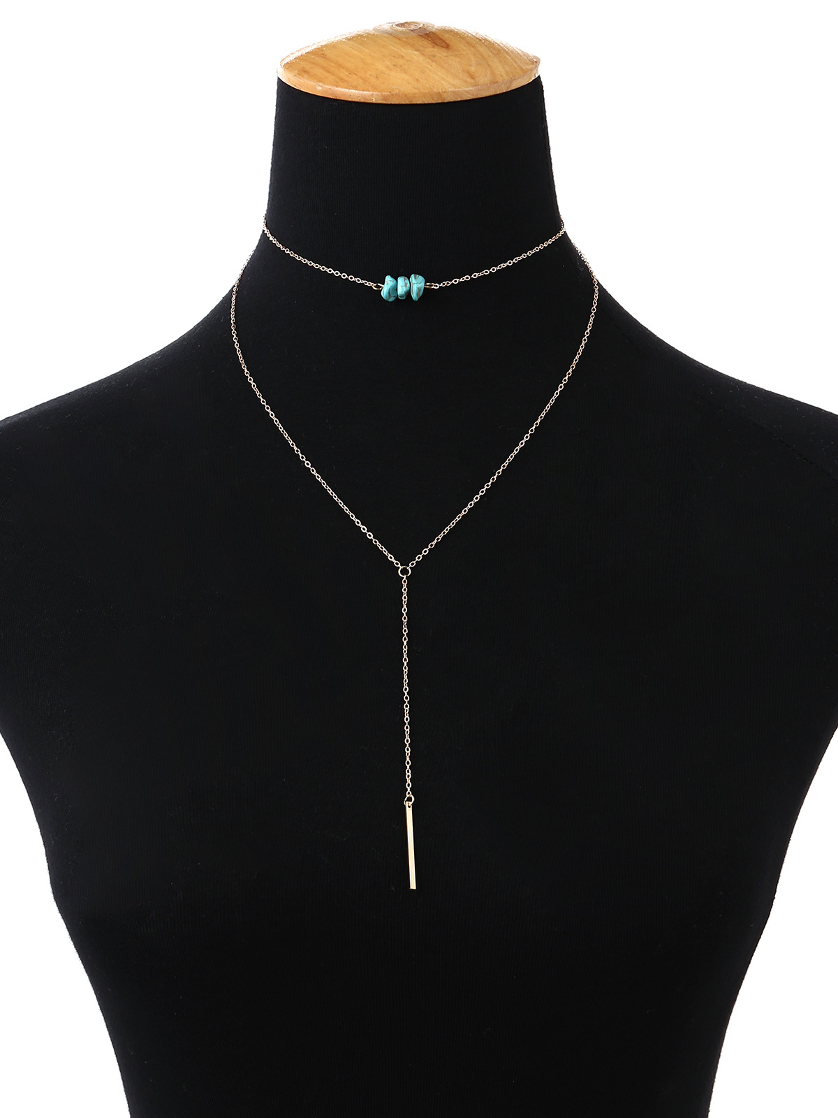 Fashion Alloy plating necklace Geometric (Gold 1639)NHXR1651-Gold 1639