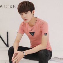 夏季男士短袖T恤圆领韩版修身男打底衫纯棉半袖男T恤加大码装批发