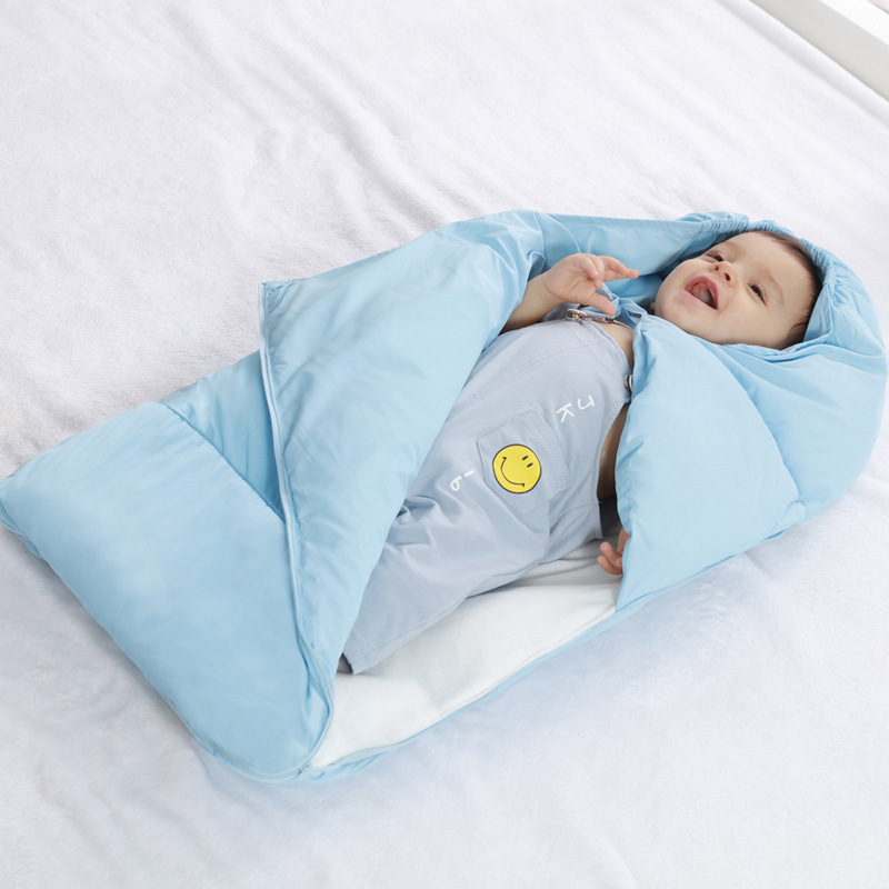 f529feca5 Baby sleeping Bag winter Envelope for newborns sleep thermal sack Cotton  kids sleep sack in the carriage wheelchairs