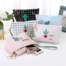 韓版大容量化妝包可愛手拿化妝袋小號防水洗漱包女生化妝品收納包