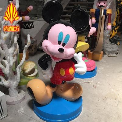 广州尚雕坊厂家现货玻璃钢卡通雕塑摆件商场美陈装饰儿童公园
