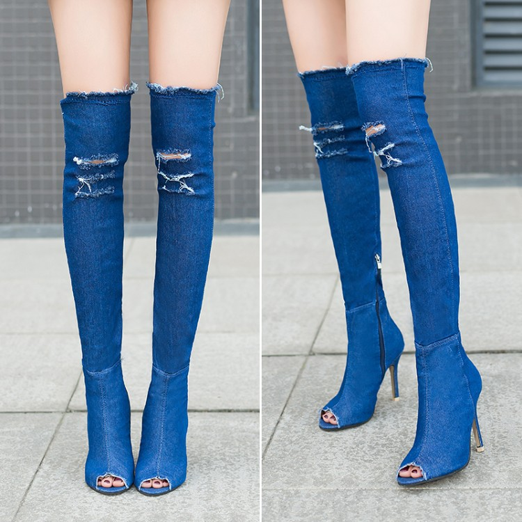 3f7bb9642dd ... Fish Mouth Boots Female Sexy Large Size Hole With. winter boots for  women are the essential items for winter