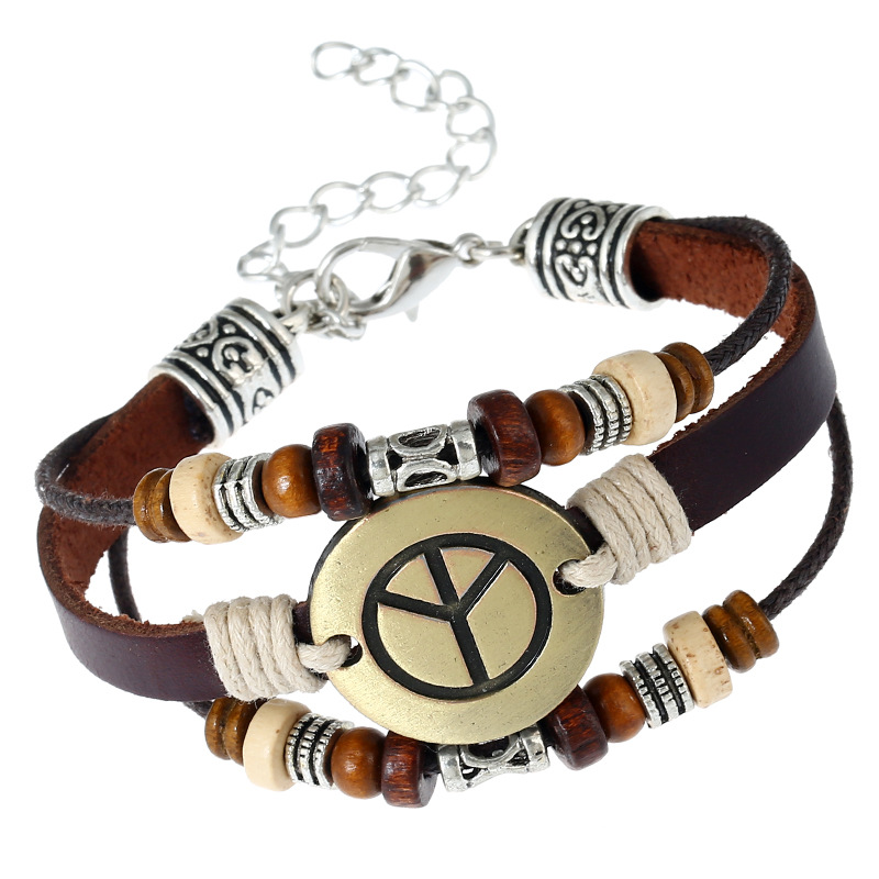 Occident and the United States CortexBracelet (Lobster claw clasping peace sign)NHNPK0901-Lobster claw clasping peace sign