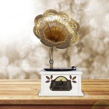 厂家直销复古留声机大喇叭黑胶唱片机台式电唱机老式收音机