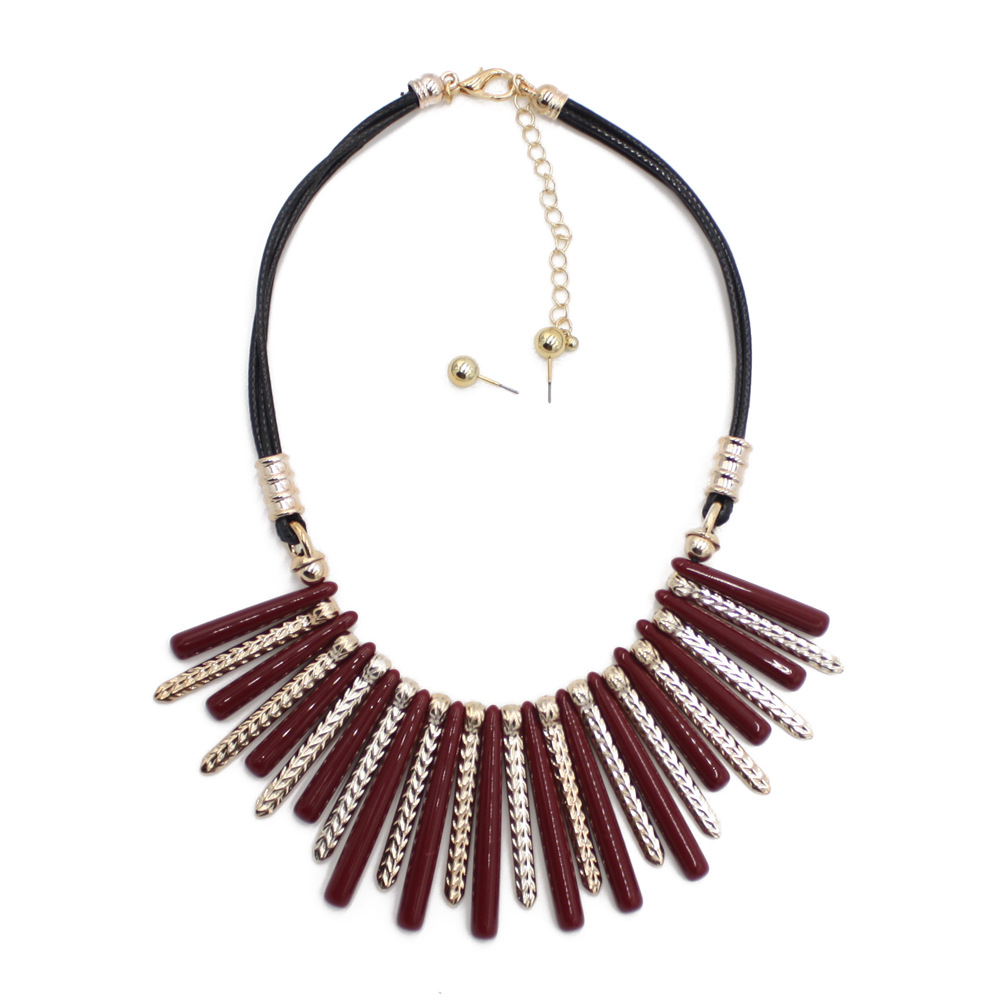 Occident and the United States Resinnecklace (Brown)NHCT0078-Brown