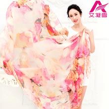 韩国春秋冬季雪纺超大丝巾两用纱巾披肩长款女士OL百搭围巾