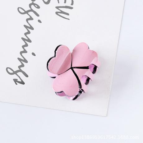 Phiên bản Hàn Quốc của acrylic mới cỏ ba lá vuốt clip kẹo màu công chúa nhỏ kẹp tóc mũ nón phụ nữ bán buôn
