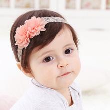 儿童发饰春夏款雪纺花朵婴儿发带蕾丝宝宝发带儿童头饰品一件