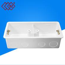 开关底座盒批发 双联接线盒 86型双联接线盒暗盒 86型接线盒