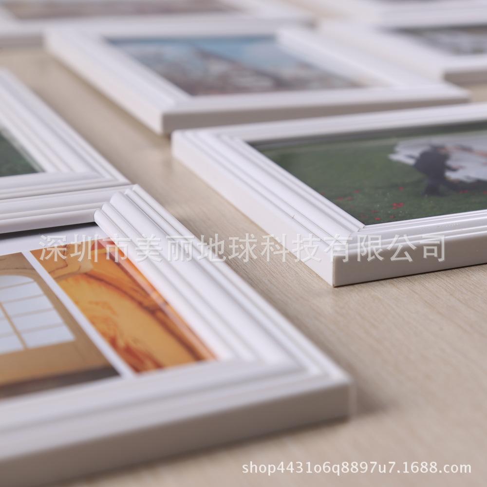 节日礼品白色相框九宫格连体组合挂墙照片墙婚妙影楼活动摆台相架