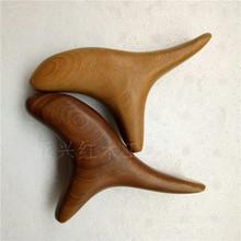 新款韩版三角雀点穴棒 三叉刮淋巴木质脚底足穴位香木按摩器 批发