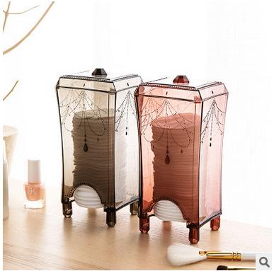 化妆棉收纳盒桌面抽取化妆棉盒卸妆棉收纳整理盒简约塑料透明盒子