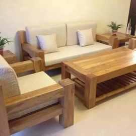 厂家直销老榆木沙发办公家具大小户型实木沙发客厅组合