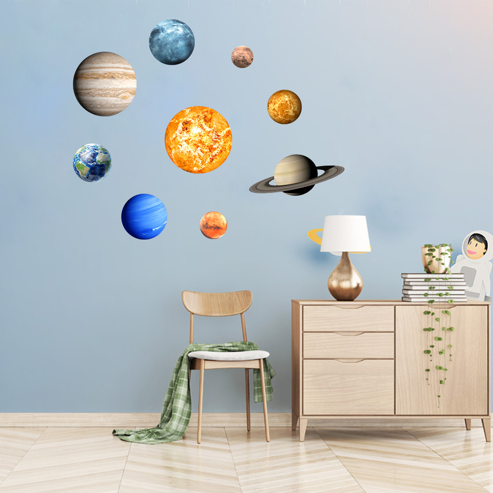 Diy Luminous Wall Decal Decoration Planet Stickers Fluorescent