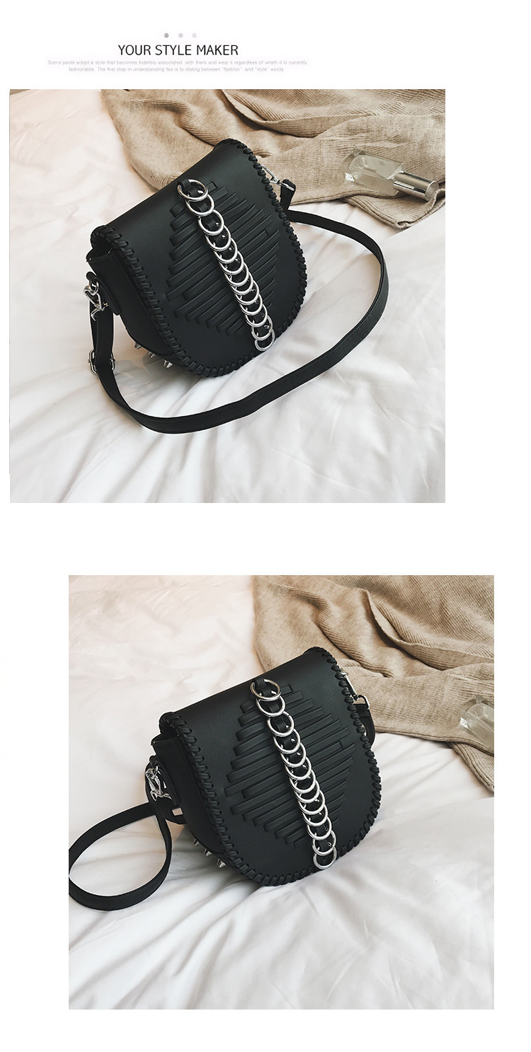 Korean version PUShoulder Bags (black)NHPB0786-black