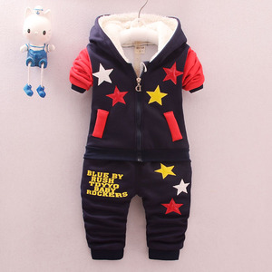 Kids Boys Winter suits with velvet thick 0-1-2-3 at the age of 4 baby baby jinsirong children winter sweater
