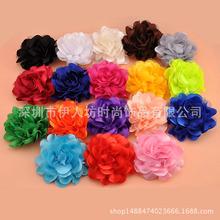 韩国百搭立体绸缎小花朵头饰 布艺胸花胸针配饰品 简约单朵花发夹