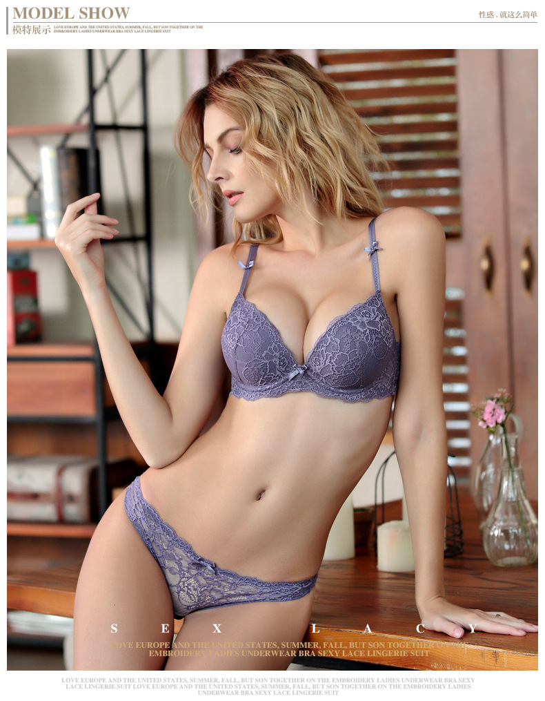 a6bd430aaa 2019 Brand High Quality Bra Briefs Sets Women S Bra Push Up Lace ...
