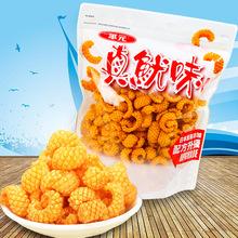 台湾进口 华元真鱿味红烧鱿鱼片薯片膨化食品200g*6袋/箱零食小吃