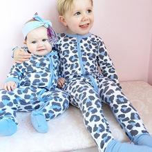 ins爆款棉童連體衣嬰兒服裝 春夏季寶寶包腳哈衣 嬰幼兒長袖爬服