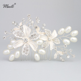 Imitated crystalCZ Fashion Flowers Hair accessories  Alloy NHHS0488Alloy