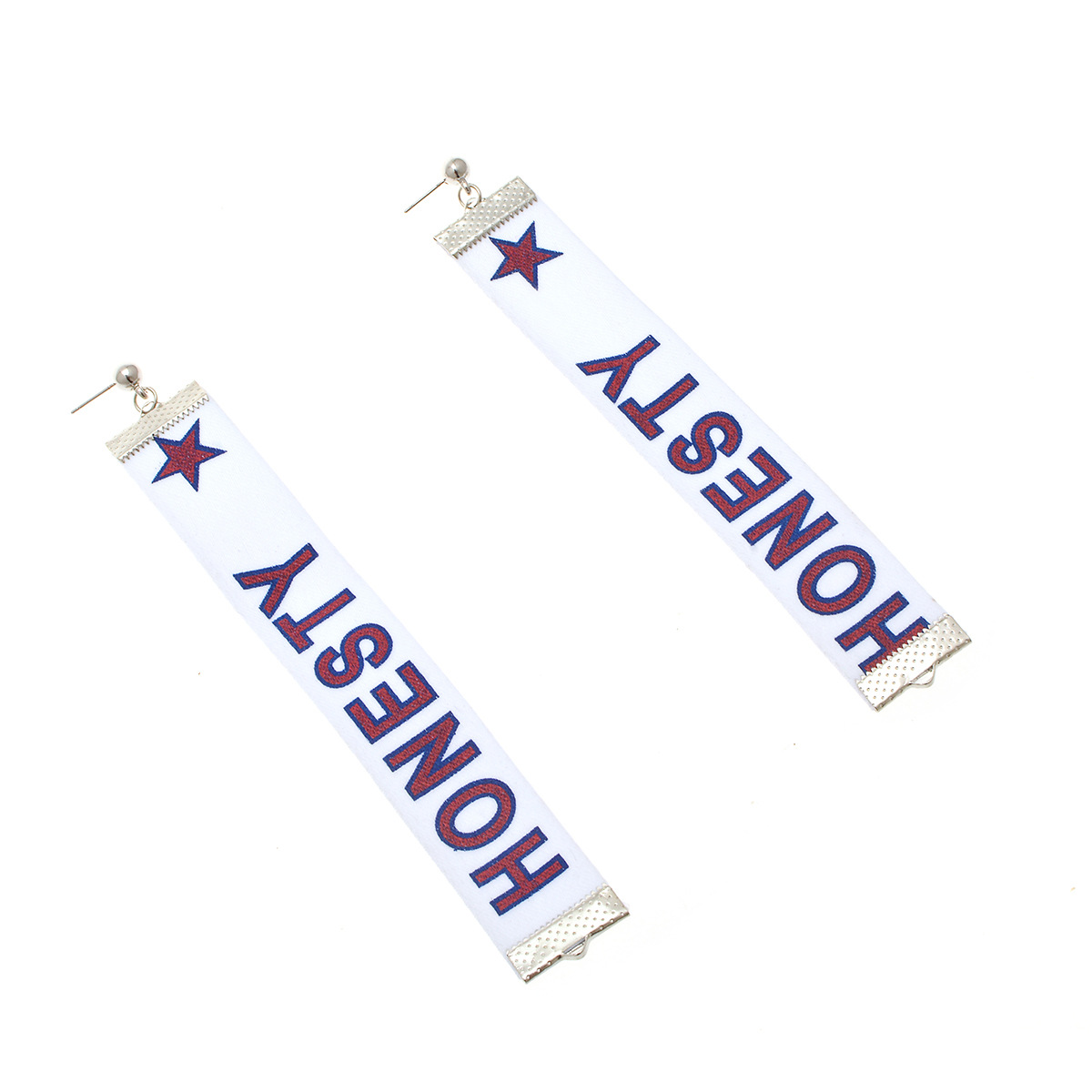 Simple alloy Ribbon earring (B0786 green)NHXR1477-B0786 green