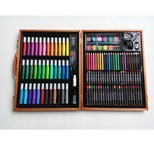 150件套實木木盒繪畫禮盒彩筆套裝環保材料兒童文具批發