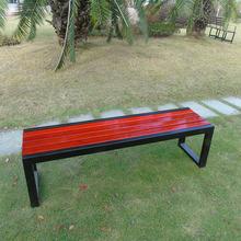 戶外公園椅排椅長凳子 室外休閑長椅園林椅焊凳防腐實木靠背椅子