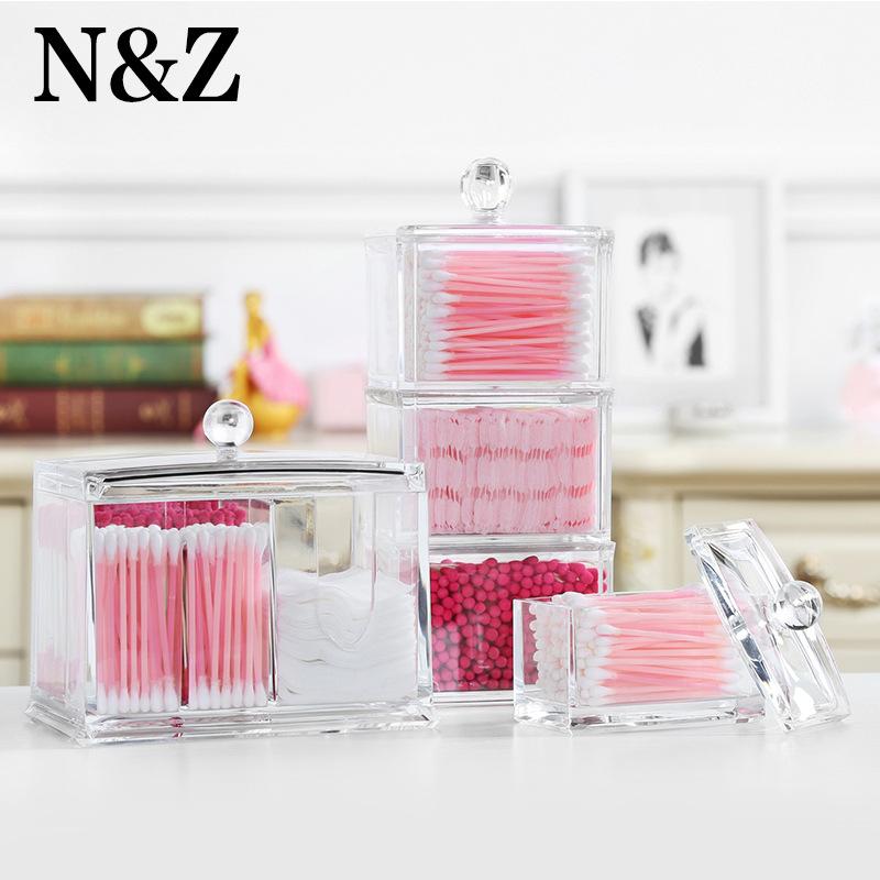 纳妆化妆棉收纳盒亚克力棉签盒透明多功能卸妆棉化妆品收纳盒