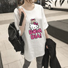 Spring and summer tide, new loose big yards, long paragraph cartoon KT, cat short sleeve, T T-shirt, 9.9 packs of mail,
