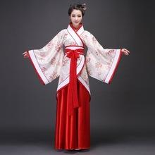 古装唐装汉服女唐朝拖尾贵妃服装婚服仙女装美公主演出费用装古代
