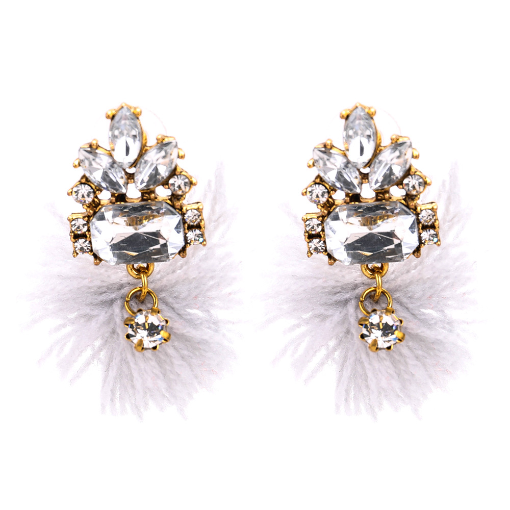 Occident and the United States alloy plating earring (white)NHJE0508-white