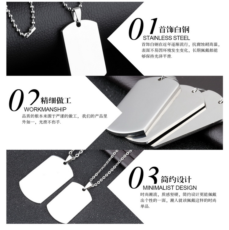Titanium&Stainless Steel Fashion Geometric necklace(Large size 50 ) NHOP2721-Large-size-50-height-3