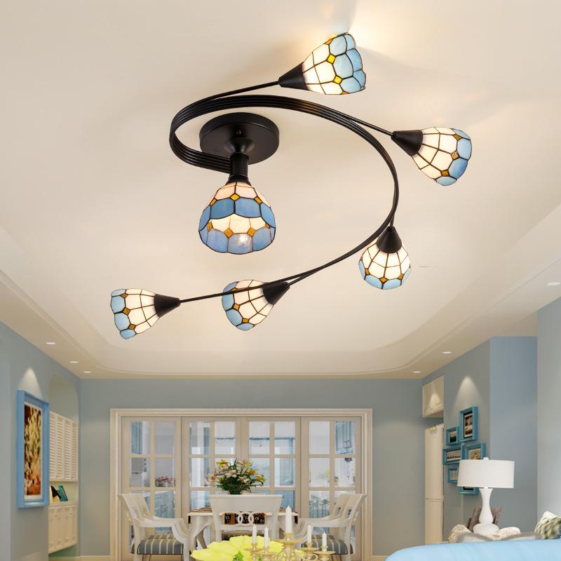 欧式地中海吸顶灯客厅餐厅灯 美式简约家居灯饰卧室餐厅创意田园
