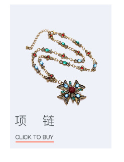 Alloy Vintage Flowers necklace  (Color mixing) NHTF0182-Color-mixing