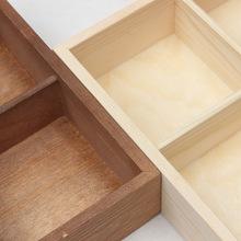 创意分格干果盒实木水果盘干果盘零食盘子糖果收纳盘木质水果托盘