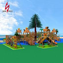大型户外公园多功能木制游乐设备设施滑梯实木幼儿园大型滑梯组合