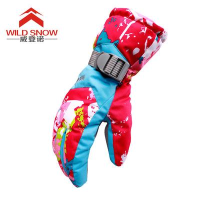 跨境货源 2017新款户外男女手套防风透气防泼水透湿保暖滑雪手套