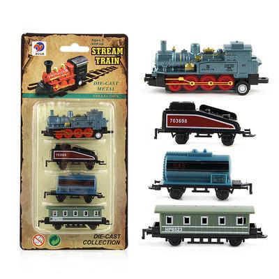 Hợp kim đồ chơi xe hơi hơi nước cổ điển train trẻ em đồ chơi xe hơi mô hình hợp kim train set