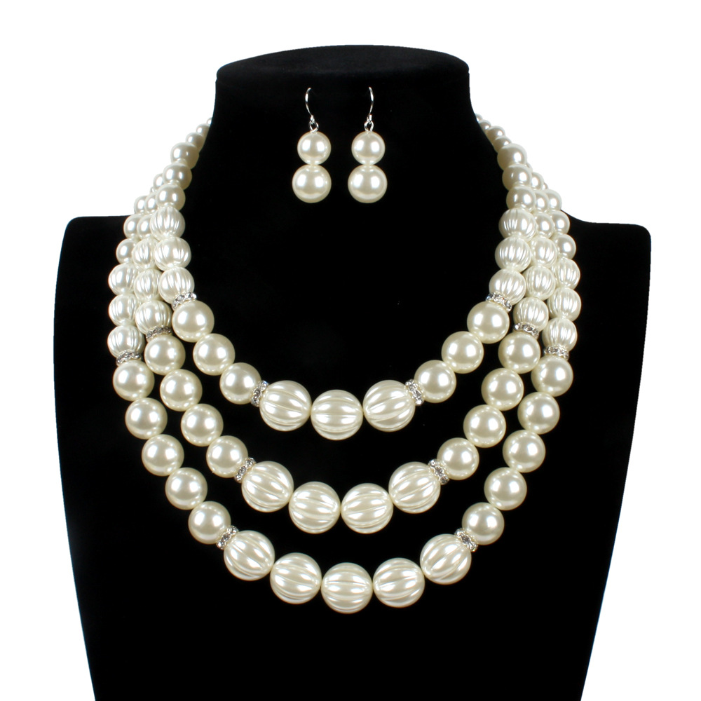 Occident and the United States pearlnecklace (creamy-white)NHCT0107-creamy-white