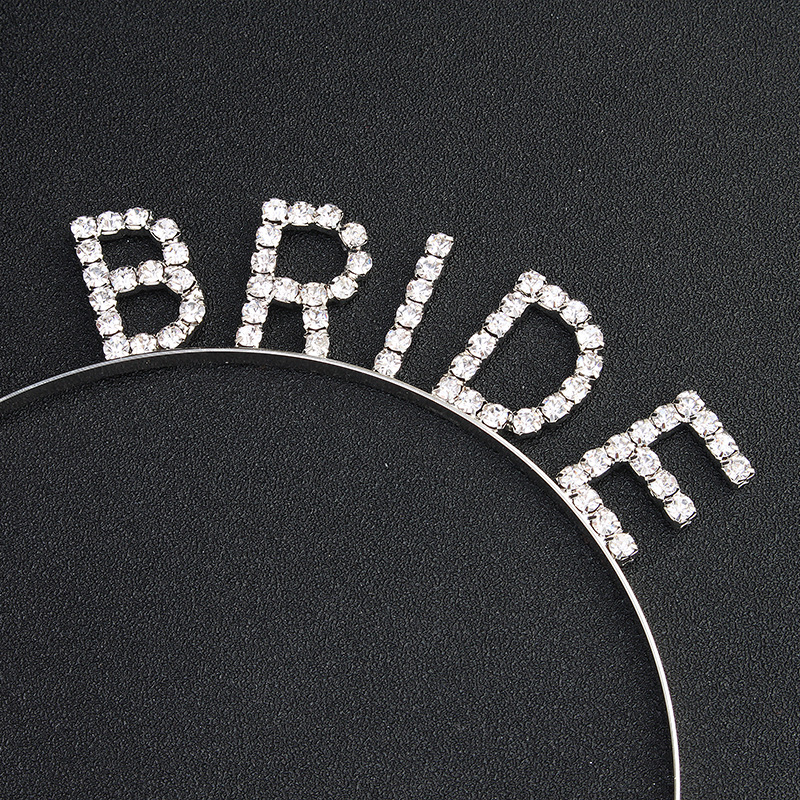 Imitated crystal&CZ Fashion Geometric Hair accessories  (Alloy) NHHS0496-Alloy